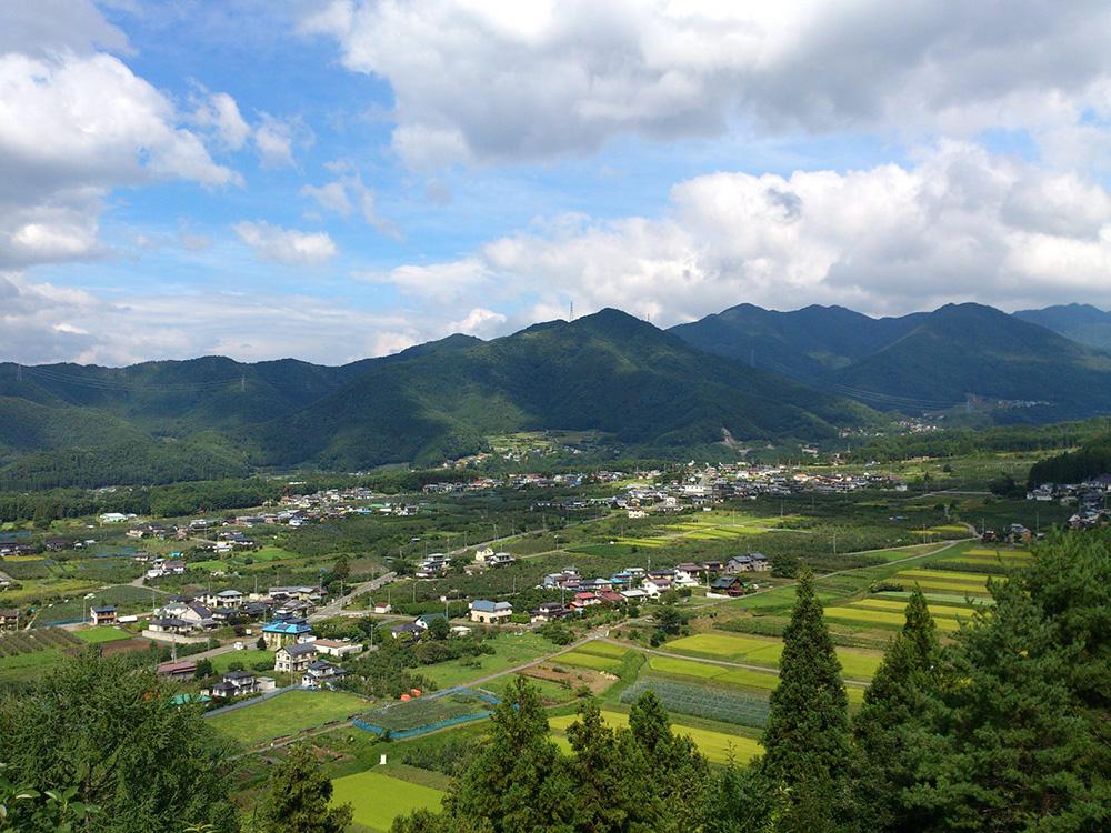 高山村の風景